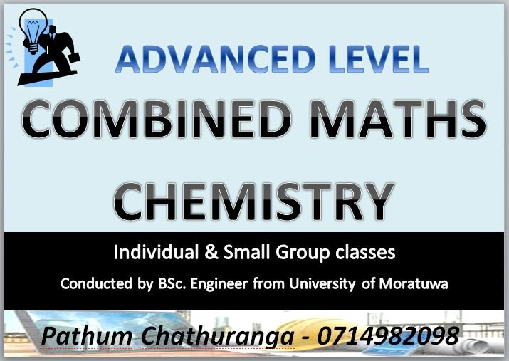 A/L Combined Maths & Chemistry - Individual & Group classes