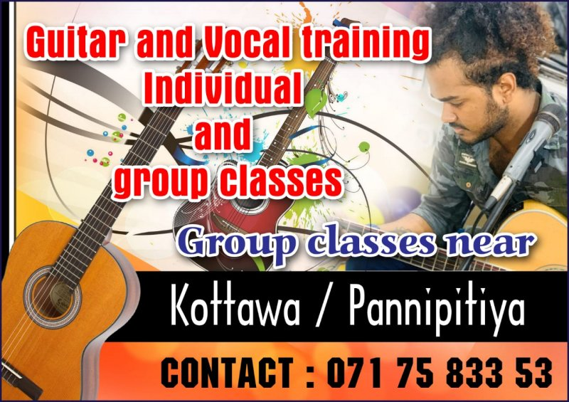 Guitar and vocal training