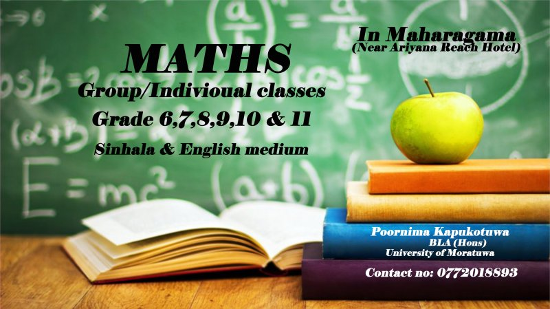 Maths grade 6 to O/L group & Individual classes