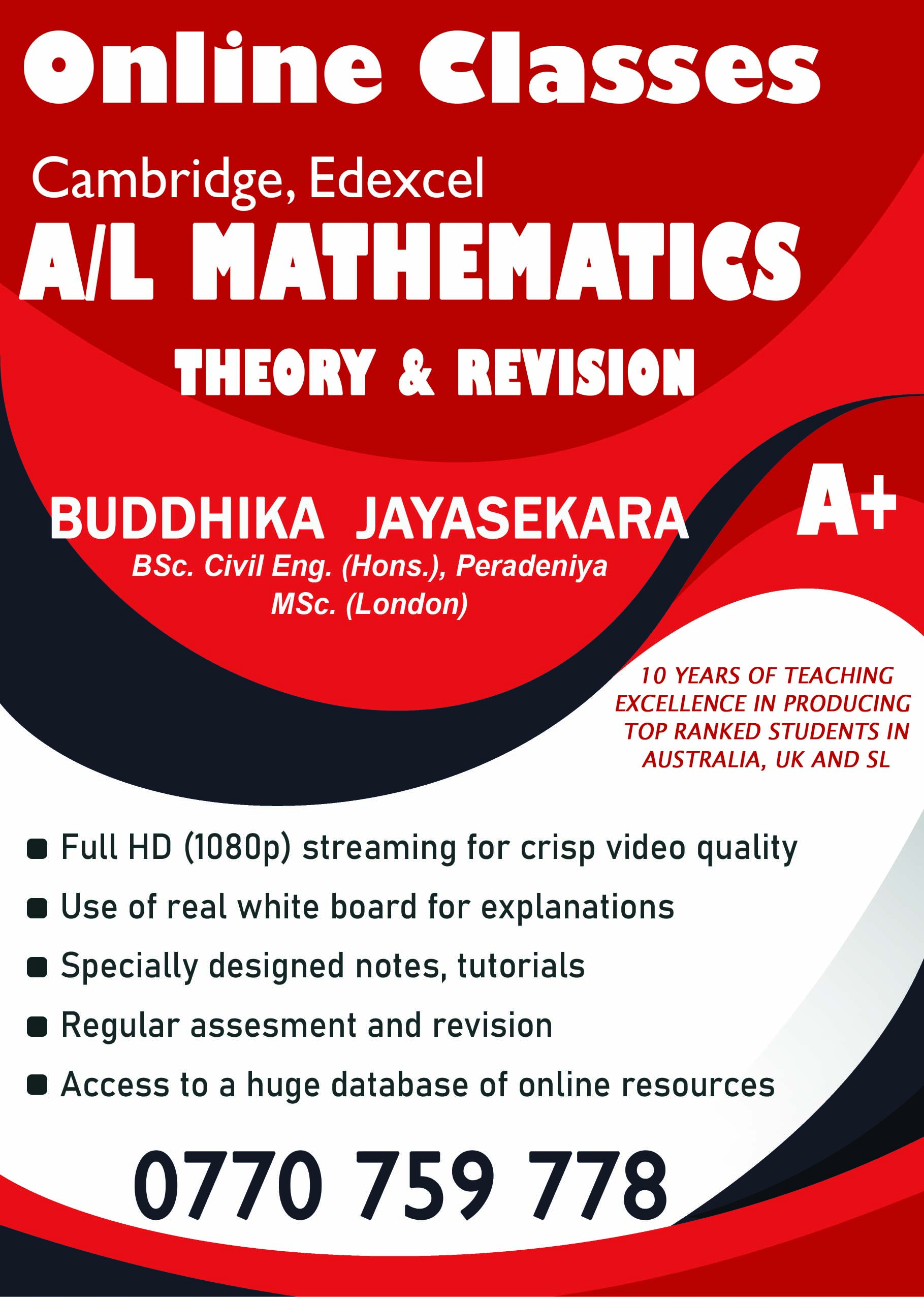 Cambridge/Edexcel IAL Mathematics online tuition: Learn from the best! to achieve the best!