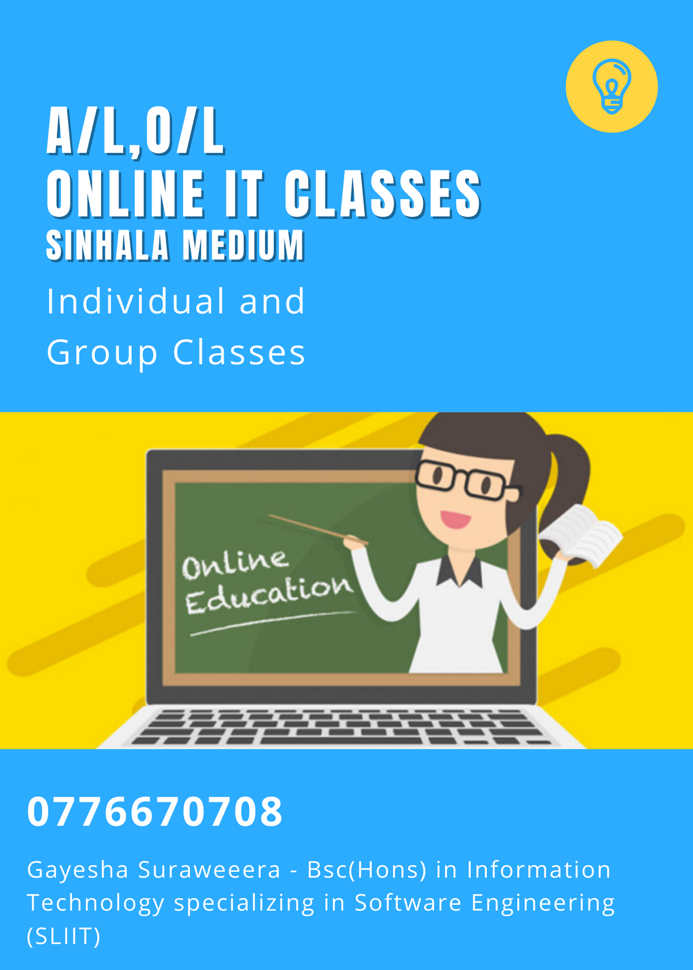 Online IT classes for AL and OL students