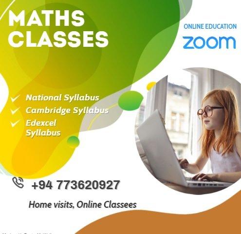 Maths Classes Grade 3-11 English& Sinhala Medium (National ,Edexcel & Cambridge syllabus)