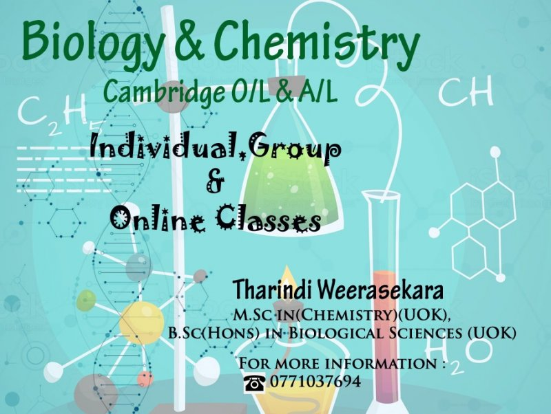 Cambridge Biology and Chemistry O/L and A/L