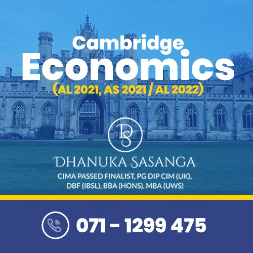 Cambridge AL & OL Economics – Individual / Group Econ Classes