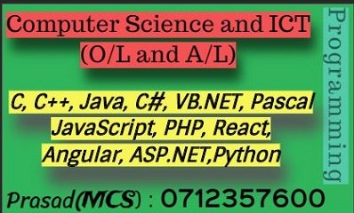 Computer Science, ICT, Programming | A/L and University