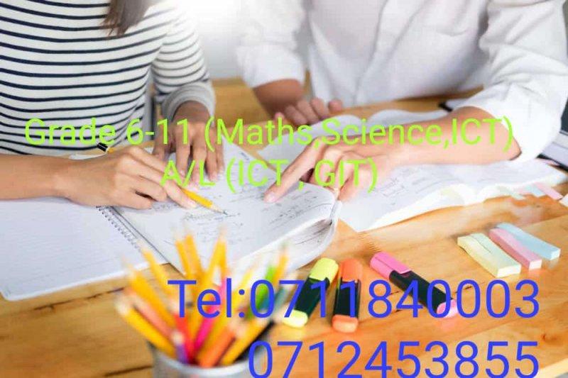 Mathematics , Science , ICT (O/L- English / Sinhala Medium)        ICT ( A/L - English / Sinhala Medium)