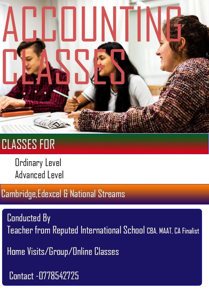 Accounting Classes O/Level & A Level (Cambridge & Edexcel)
