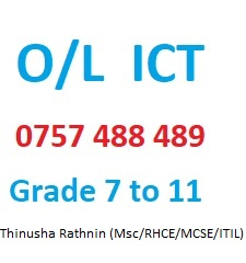 O/L ICT Tuition