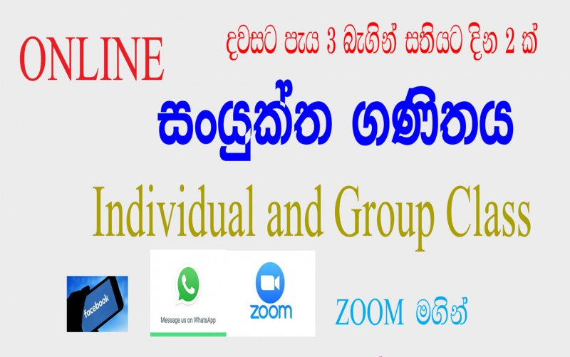 Combined Maths (Online Individual and Group )