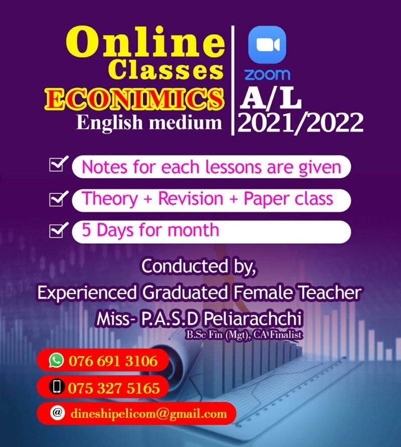 online A/L economics classes