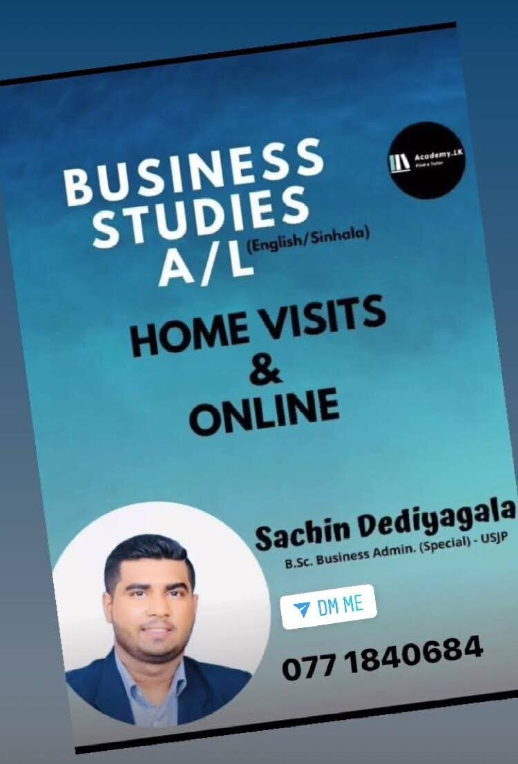 Business Studies & Economics I Online & Home Visits I Sinhala & English Medium