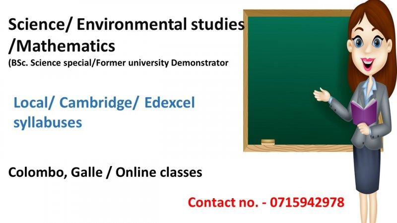 Science/ Environmental studies / Maths