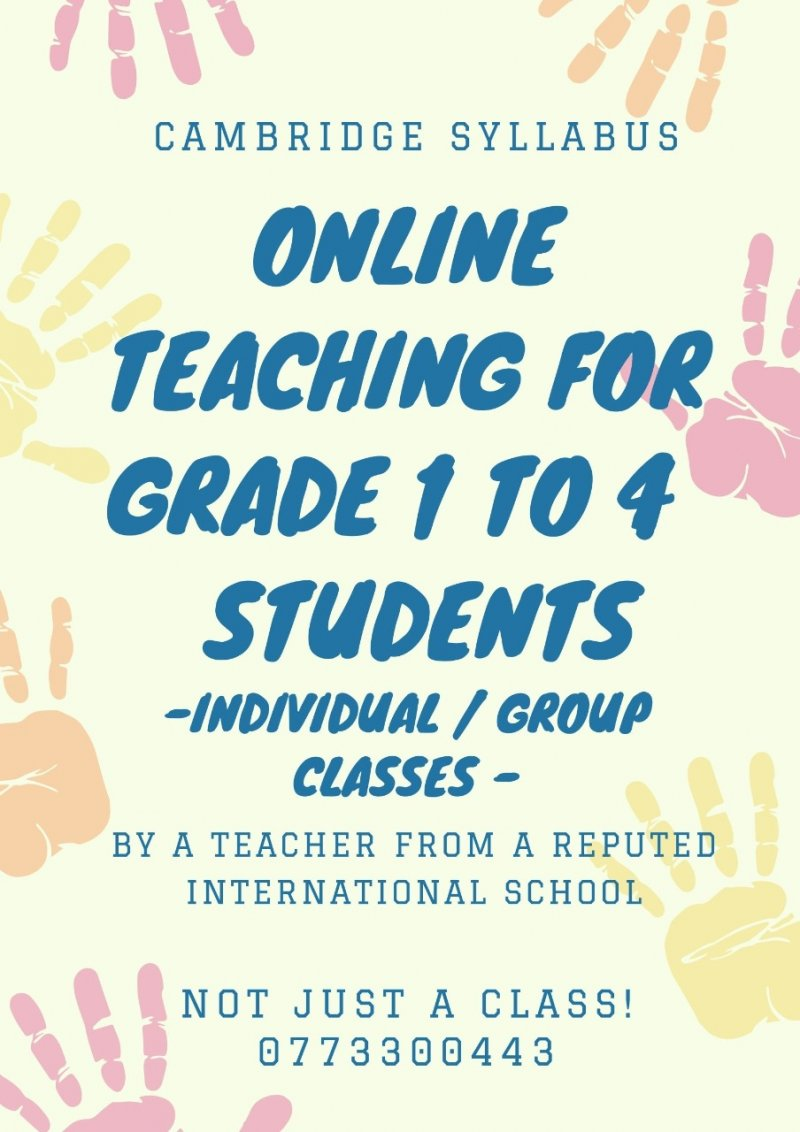 English/Maths Online teaching for primary astudents