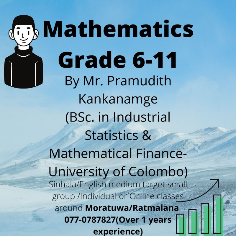 Mathematics for Grade 6-11 English/Sinhala