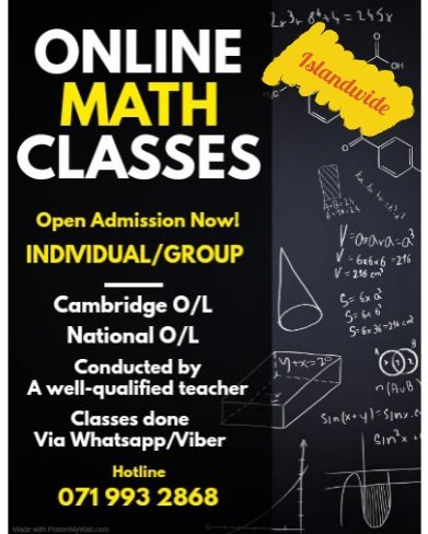 Online Maths for O/L(Cambridge/National)