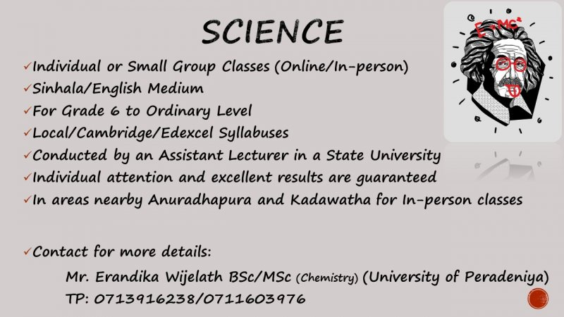 Science Classes for Grade 6 to 11 (Local Syllabus/ Edexcel/ Cambridge)