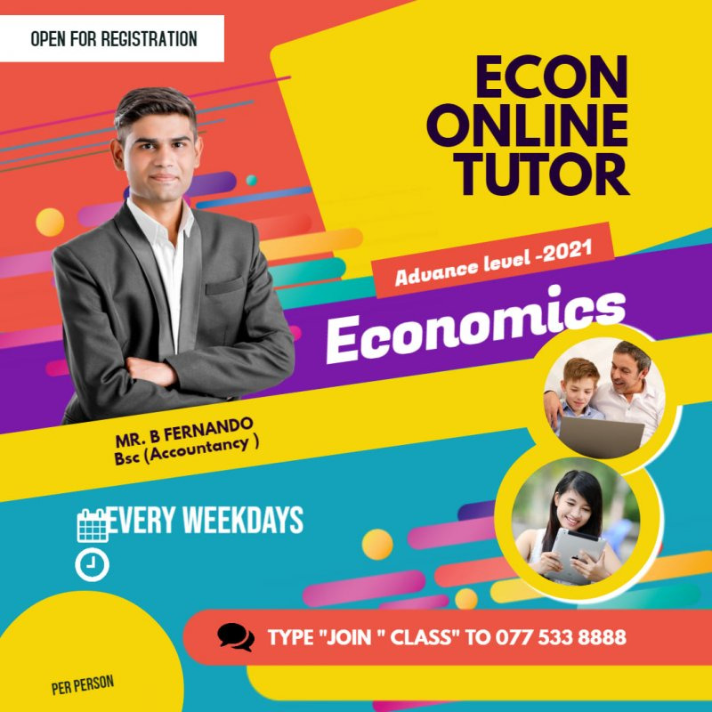 ADVANCE LEVEL, ECONOMICS ,SINHALA MEDIUM