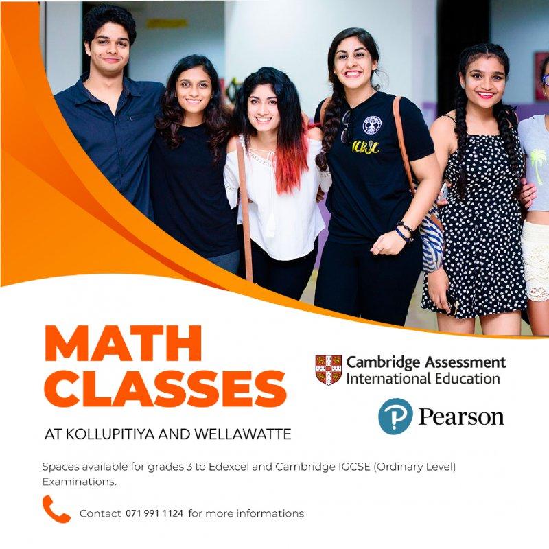 London Syllabus Maths Classes at Colombo Central