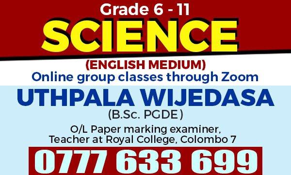 Science Online - English medium