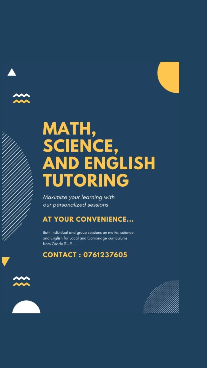 Tuition classes for Grades 1-9(Local/Cambridge/edexcel)