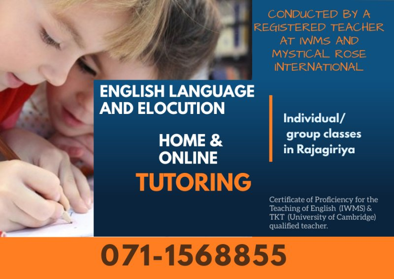 English language and Elocution classes