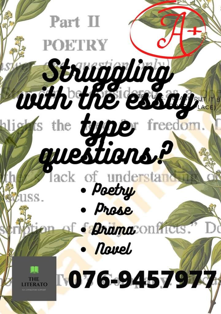 ENGLISH LITERATURE AND HISTORY FOR O/Ls
