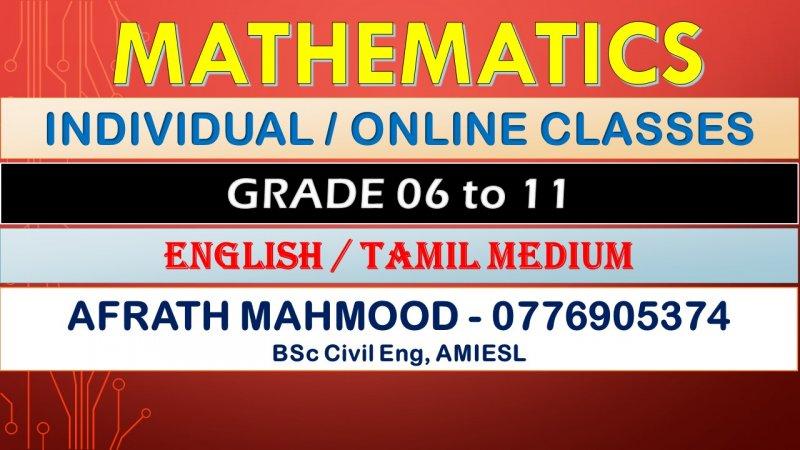 MATHEMATICS & ENGLISH for GRADE 06-11