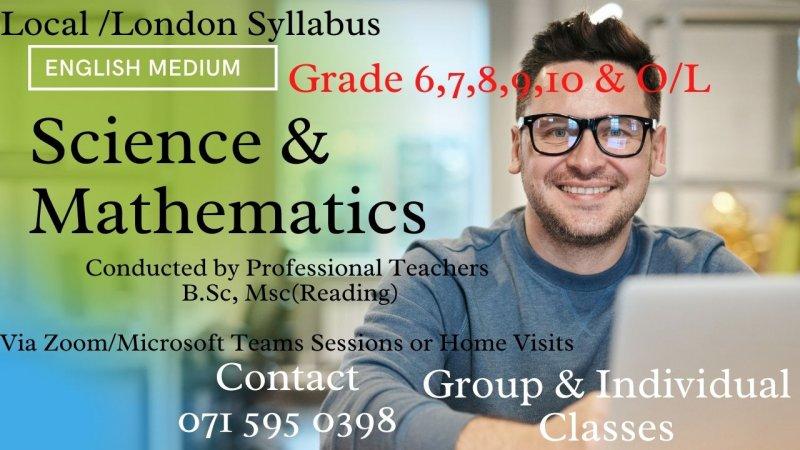 English Medium Mathematics & Science (Local & London Syllabus)