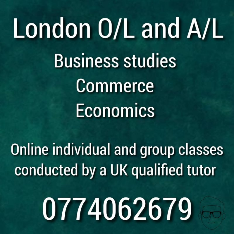 0' Level and A' Level Business Studies, Economics, Commerce for Edexcel and Cambridge classes conducted by A UK qualified tutor