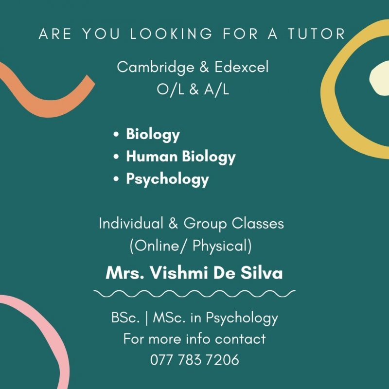Cambridge & Edexcel (O/L & A/L) - Biology, Human Biology & Psychology