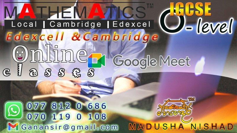 O/L  Mathematics - online classes by Madusha Nishad