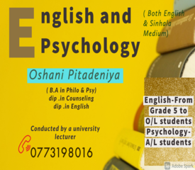 English and Psychology Tuition- Conducted by a university lecturer