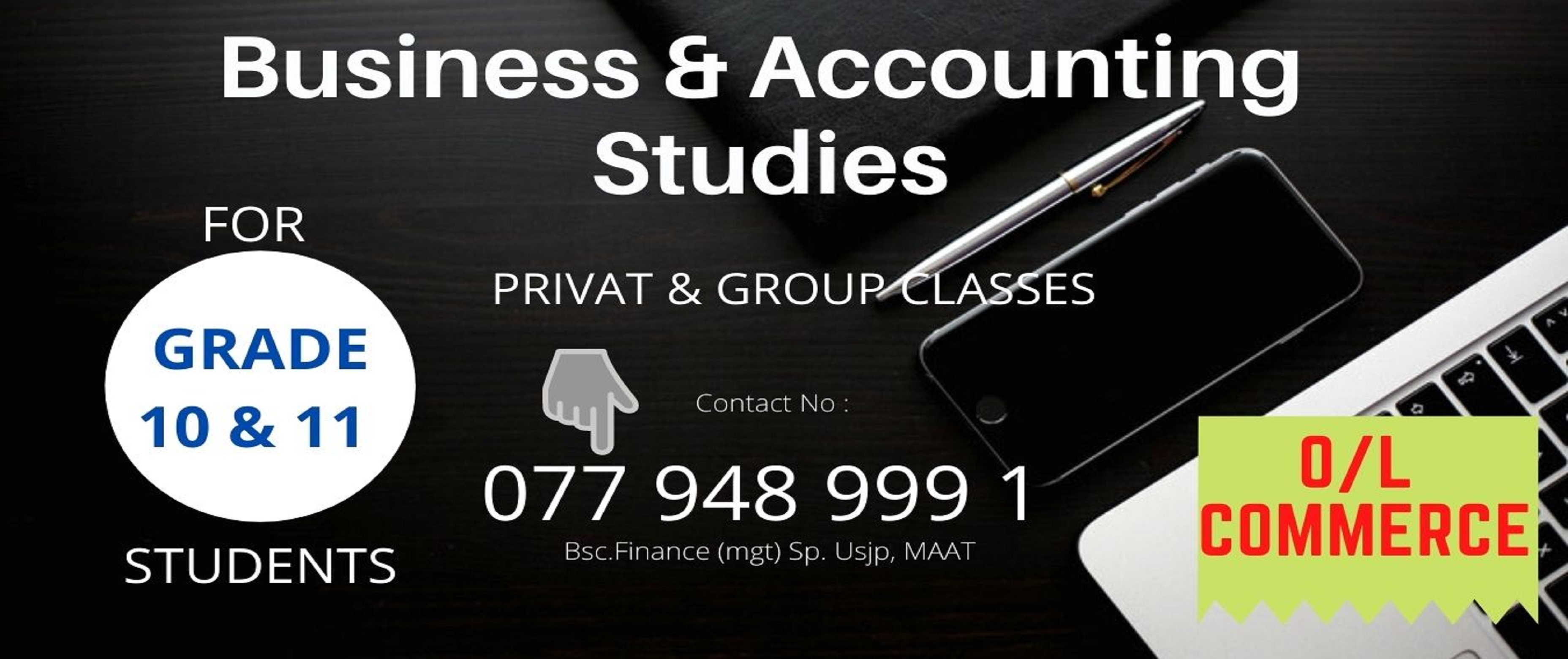 Grade 10 & 11 Business & Accounting Studies | O/L Commerce