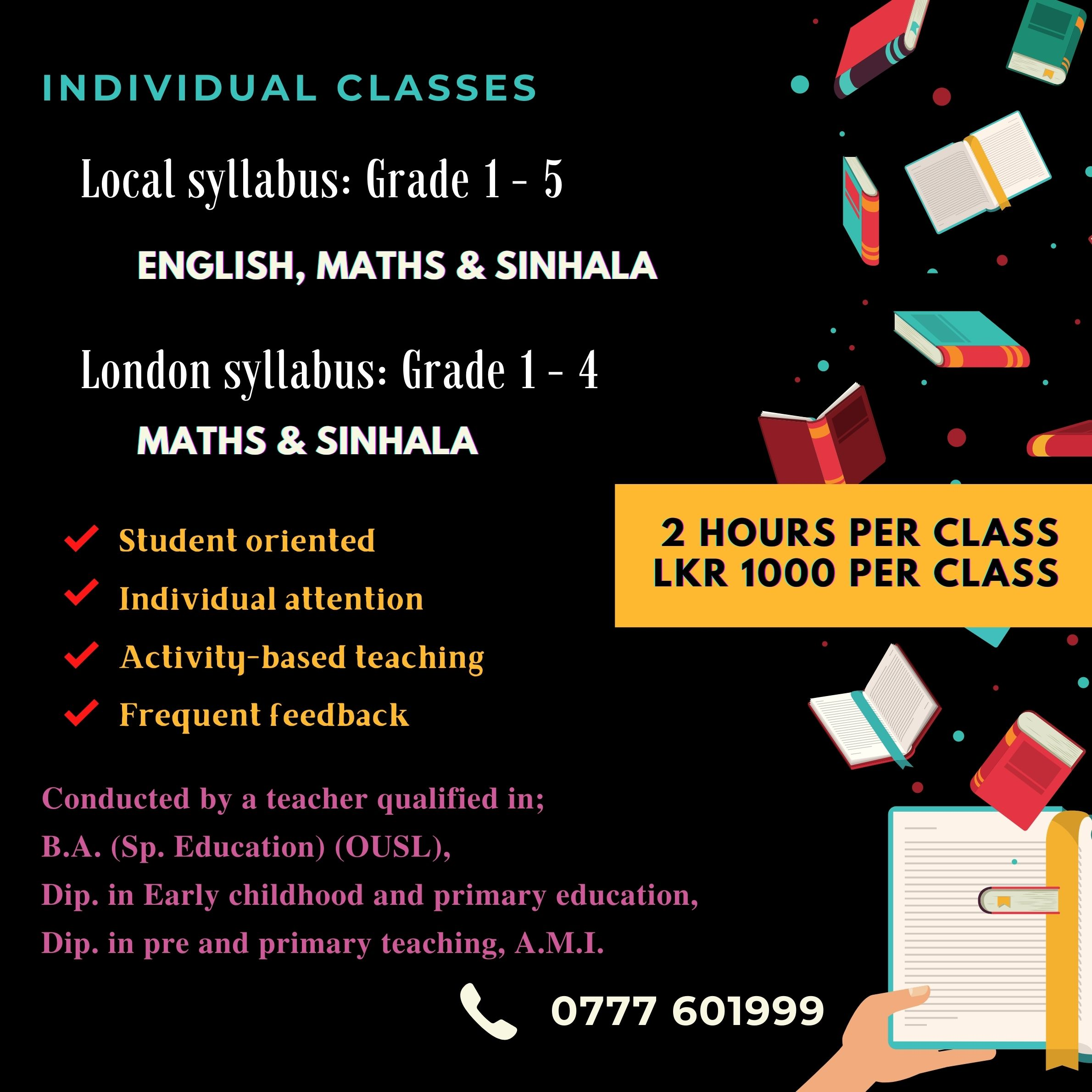 Grade 1 to 5 Individual Classes (Local and International syllabus)