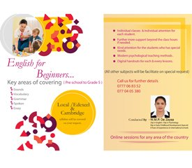 Individual english classes for beginners