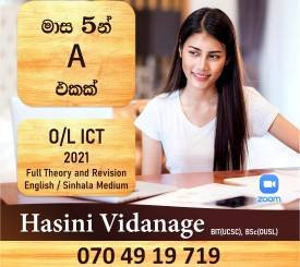 O/L ICT 2021 - 5 months Rapid Revision and Theory