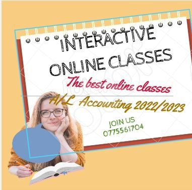 Online Accounting and Econ + Homebased Individual,Group Classes for Accounting, O/L Business Studies , Economics, AAT,CA by a Chartered Accountant