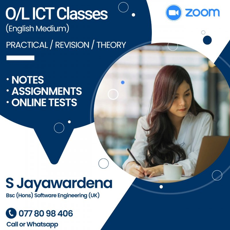 Online ICT Classes for O/L Students (English Medium)