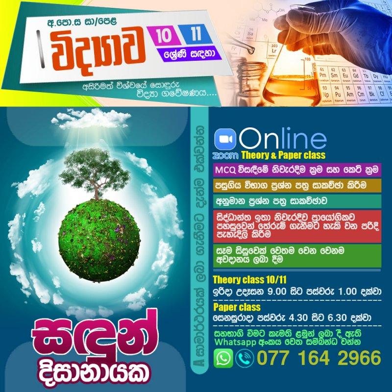 GCE Ordinary Level Online Paper class
