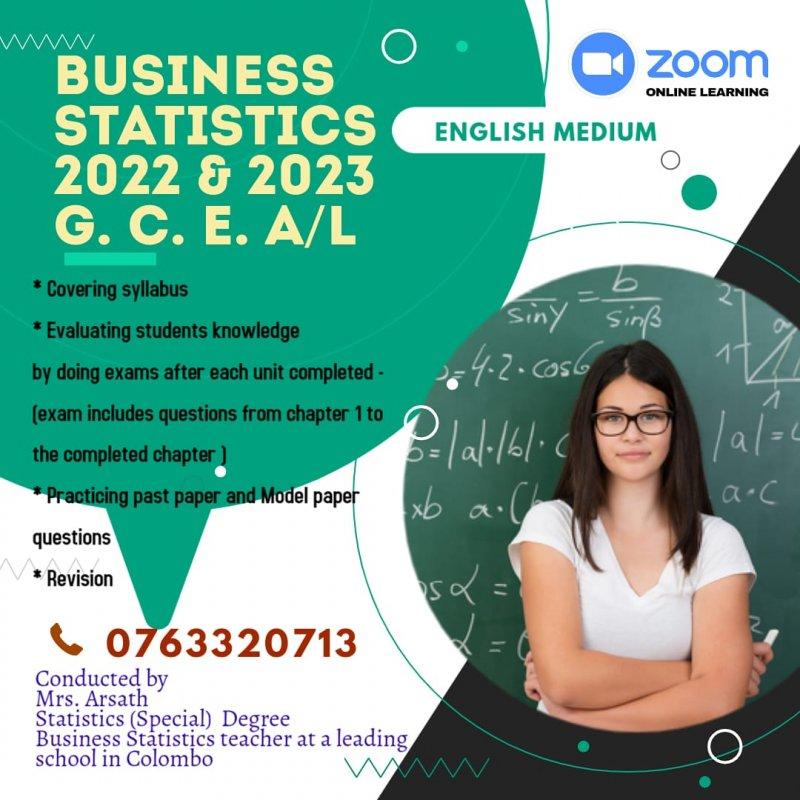 Business Statistics (Advance level - Local Syllabus -  English medium - Individual/Group/ Online Classes