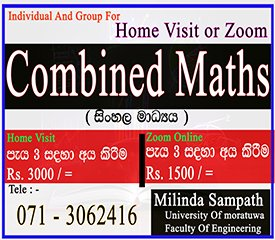 Combined Maths (Individual and Group )