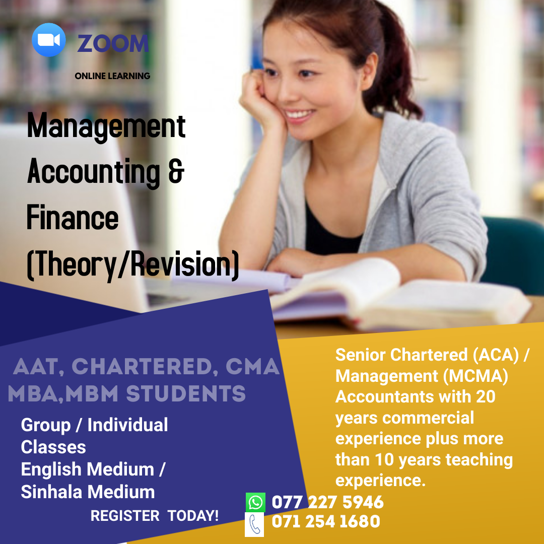 Management Accounting and Finance