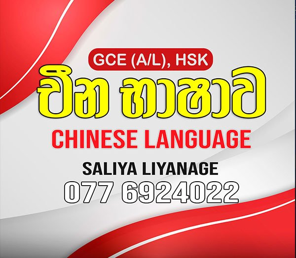 Receive an A grade for Chinese (A/L) from an experienced teacher. Online and group classes. Saliya Liyanage 0776924022.