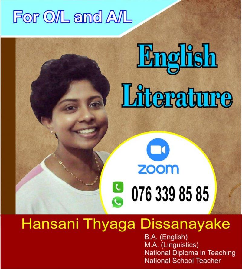 English Literature Teacher    Online Classes
