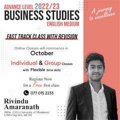 2022/23 A/L Business Studies (English Medium)