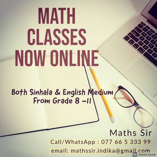 ONLINE Math Class Grade 8-11