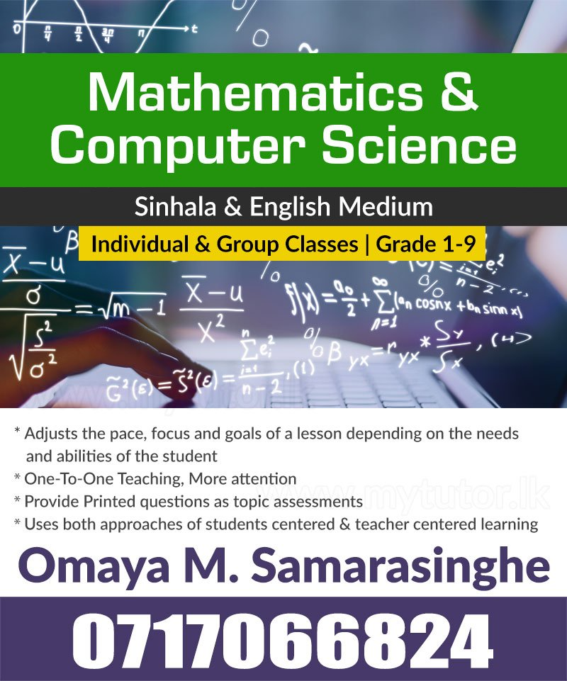 Classes for Computer Science & Mathematics