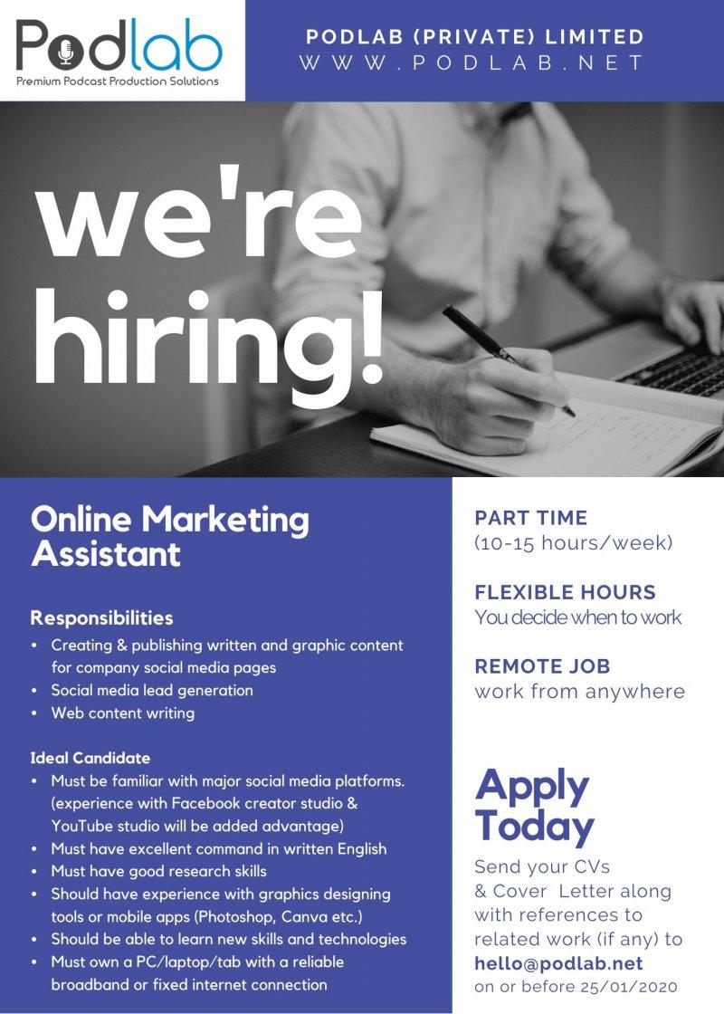 Online Marketing Assistant