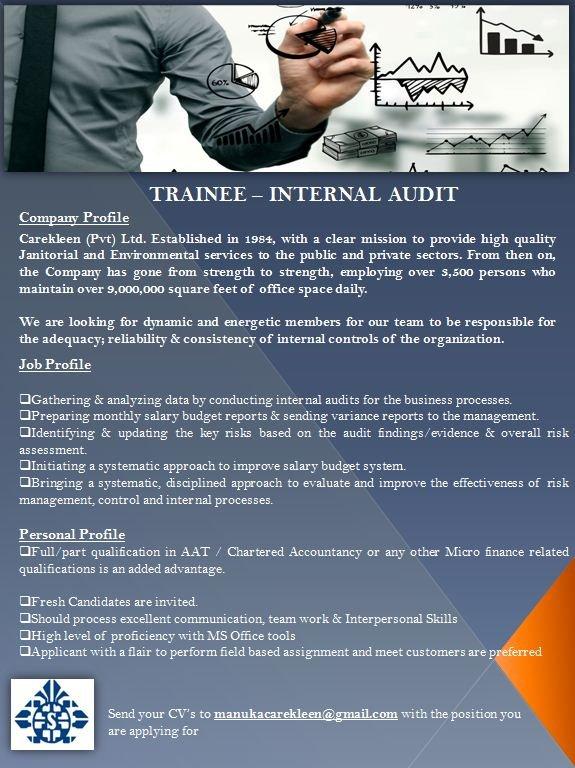 Trainee - Internal Audit
