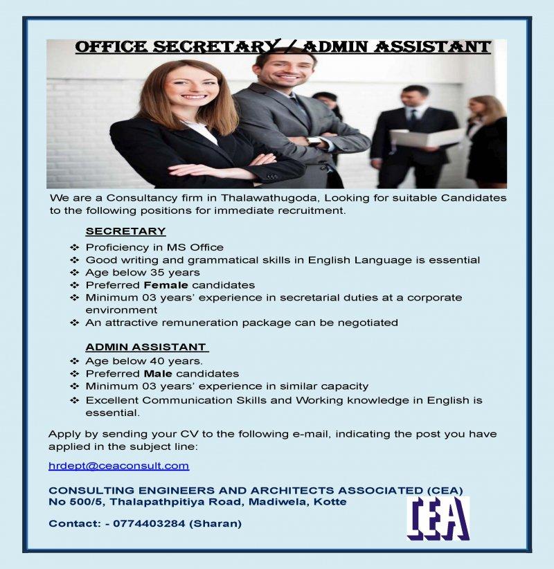 Secretary / Office Admin